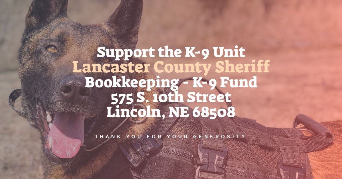Thank You For Supporting The K-9 Unit